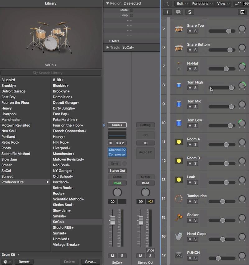 11.如何將虛擬鼓手 Drummer 分軌匯出成 Audio