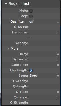 4. MIDI 在 region 視窗中的應用功能介紹