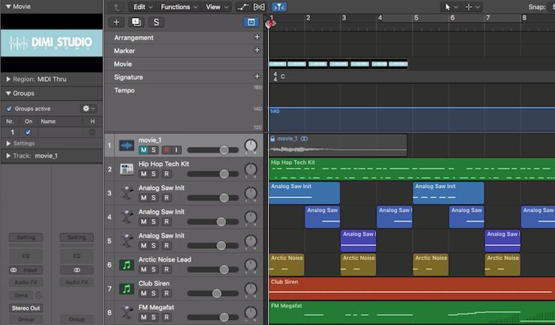 18.如何將影片輸入至 Logic Pro,並且最後將聲音與影片結合做輸出