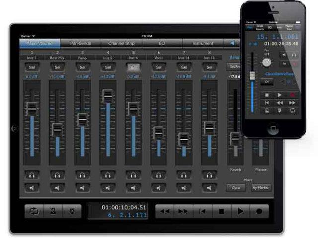 20.從我的 iPhone 或 iPad 來控制、新增音軌,甚至交互傳遞 。