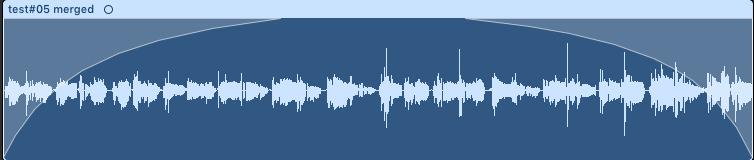 1. MIDI 與 Audio 資訊欄位及 fade in / out 功能