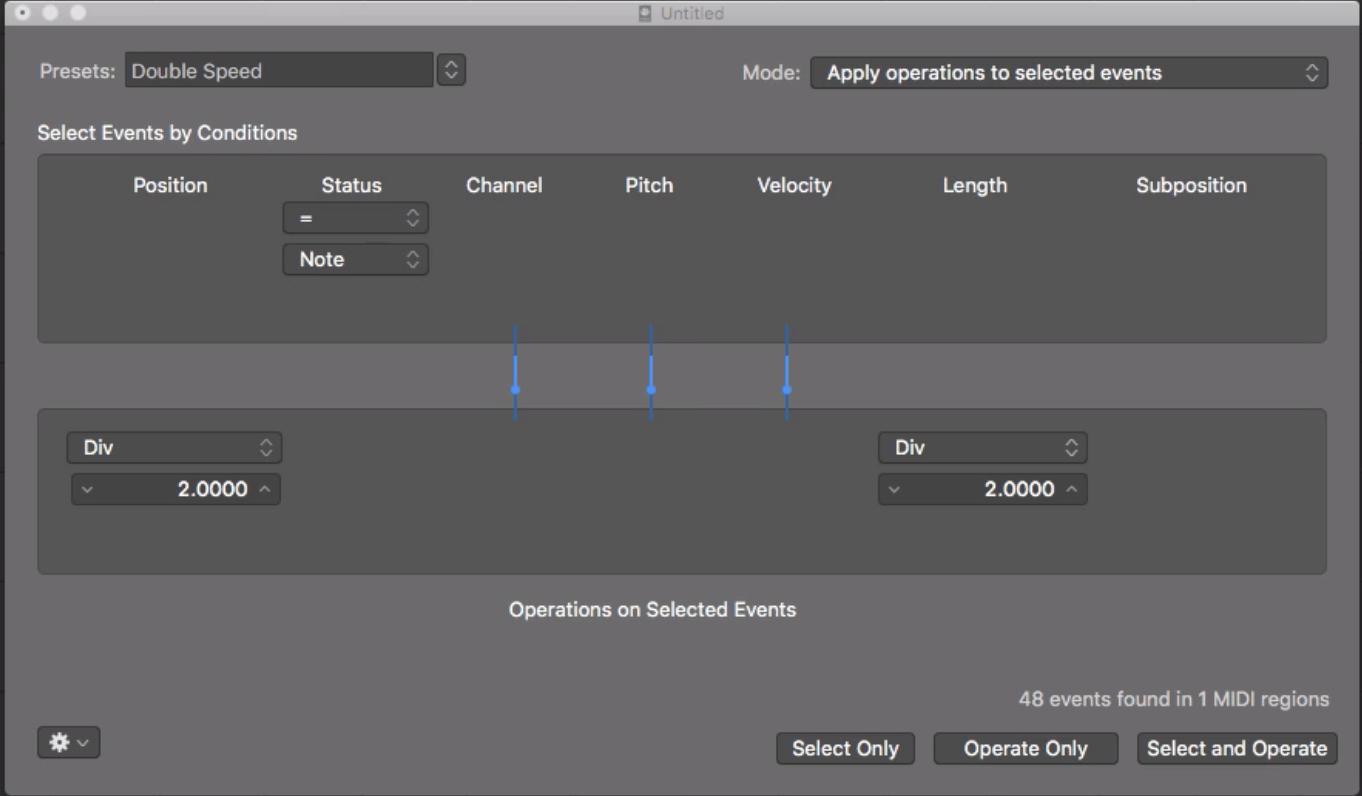7.關於 MIDI Transform 操作及使用方式