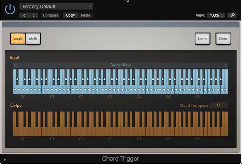 8.Chord Trigger - 在 MIDI 中一鍵就能產生和弦音