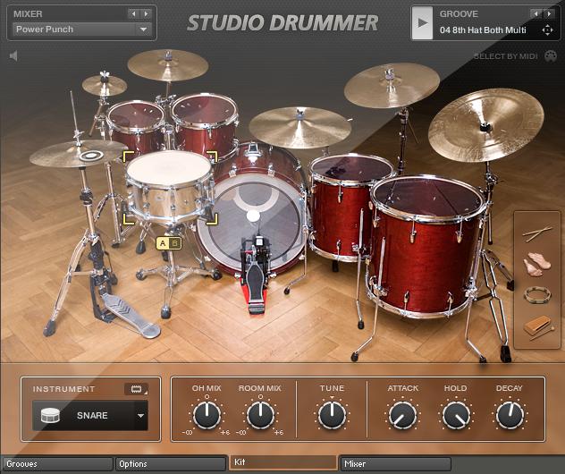 1.設定 Studio Drummer 錄音室等級爵士鼓
