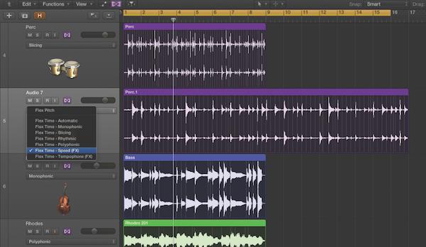 3.利用 Logic Pro 的 Flex Time 翻玩聲音!