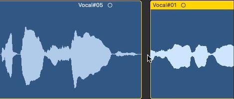 7.人聲混音流程演練5 - 進行細節的修正,讓音軌的交接處不要有瑕疵產生