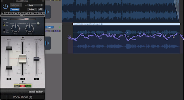 4.Vocal Rider 實際操作示範2 - 開啟 Automation 讓音量變化寫入