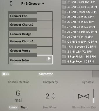 2.Session Keys 鋼琴倒轉與自動伴奏功能